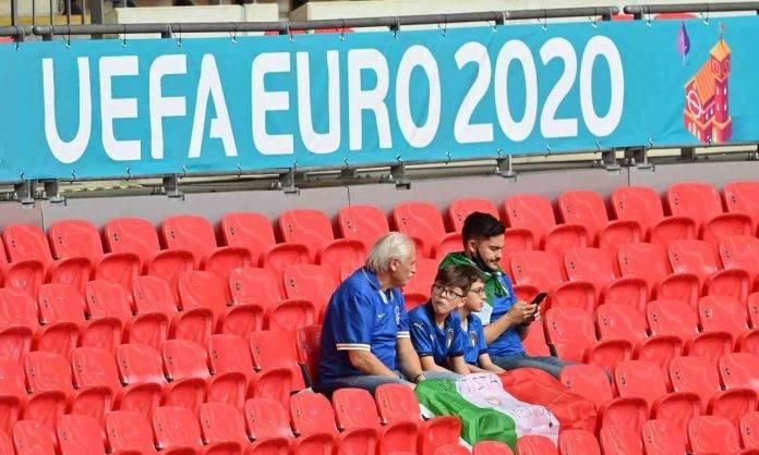 Tifosi dell'Italia a Wembley