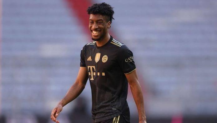 Coman del Bayern Monaco sorride