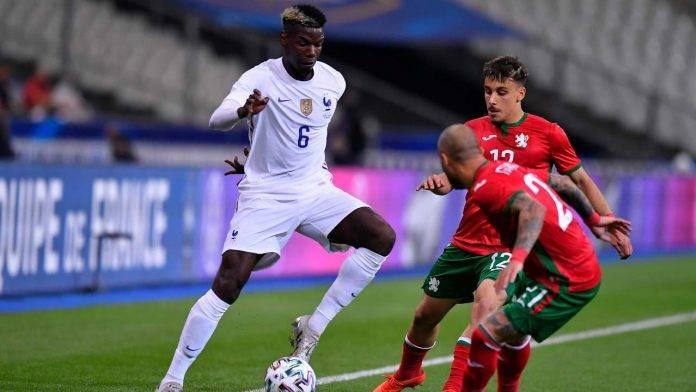 Paul Pogba durante un'amichevole di preparazione all'Europeo con la maglia della Francia