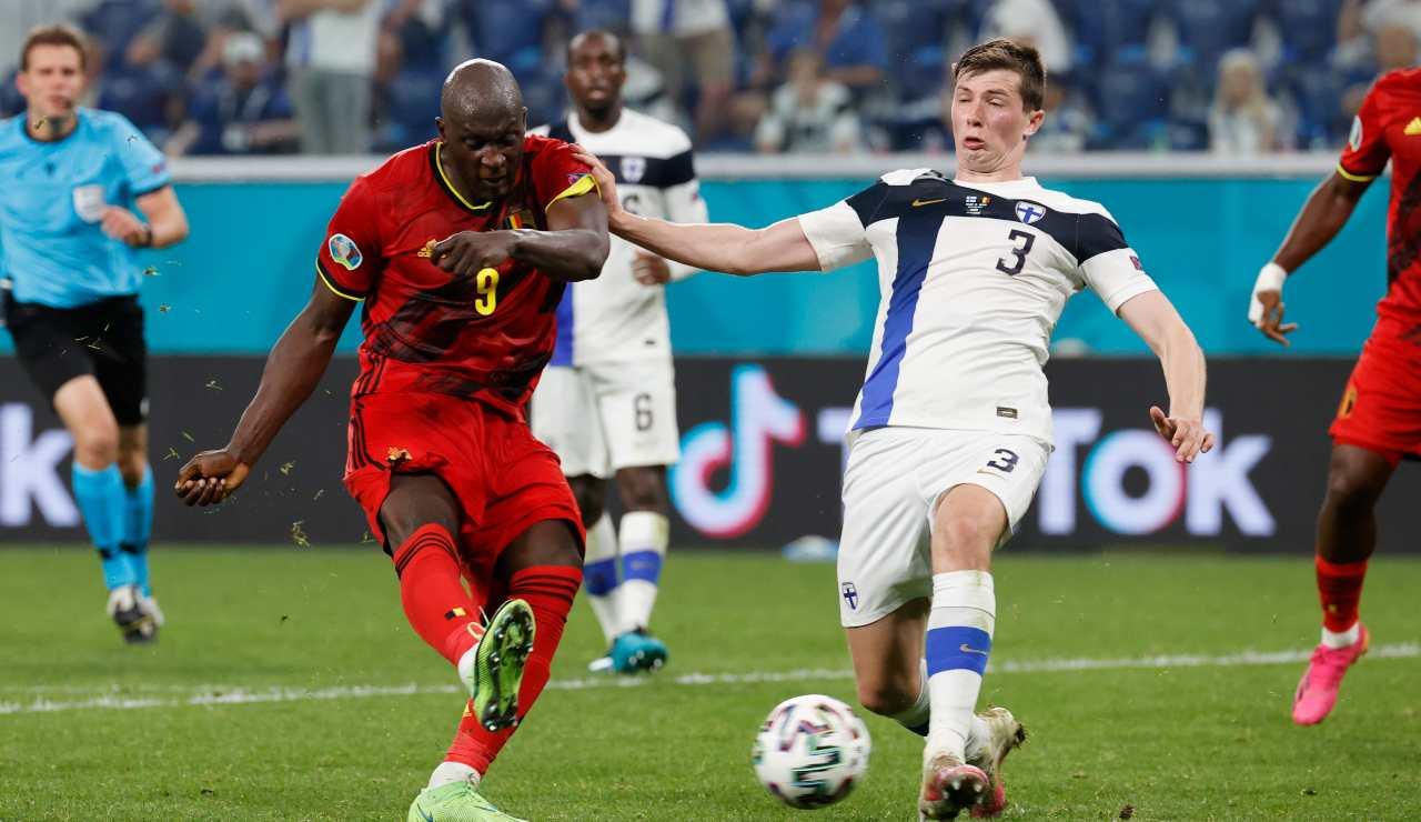 Romelu Lukaku in gol con il Belgio