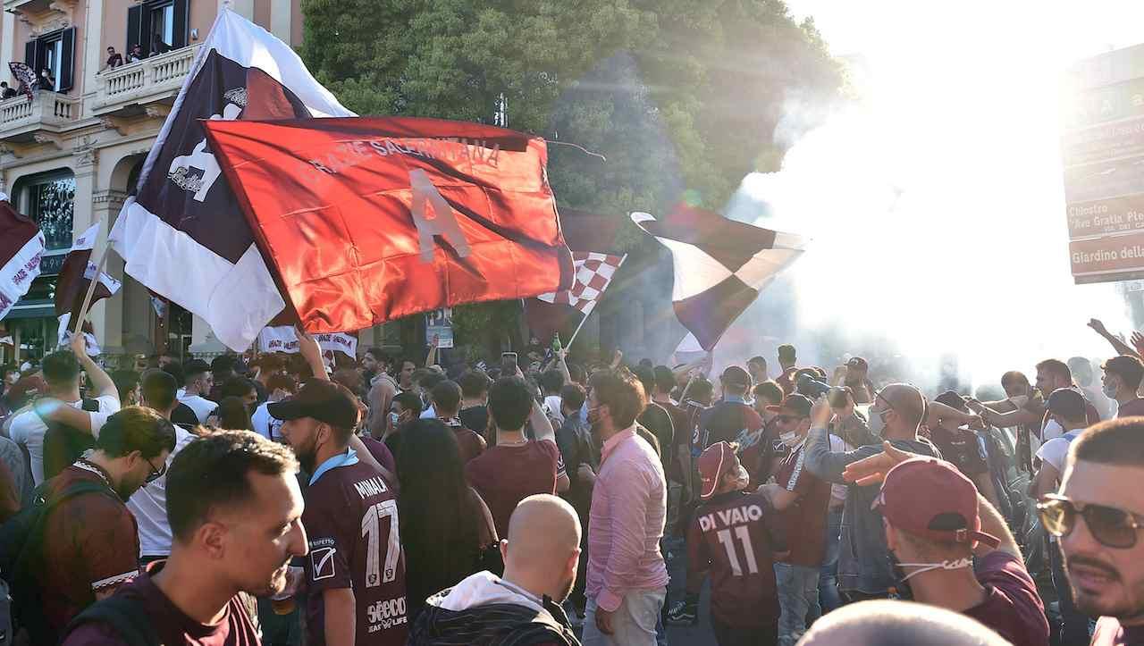 Salerno festeggia la promozione in serie A