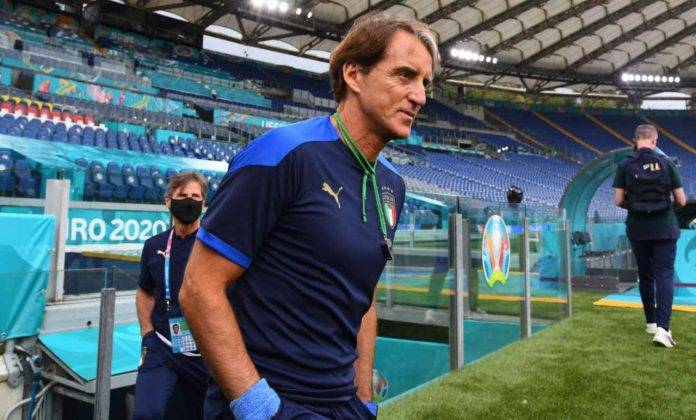 Mancini all'Olimpico con l'Italia