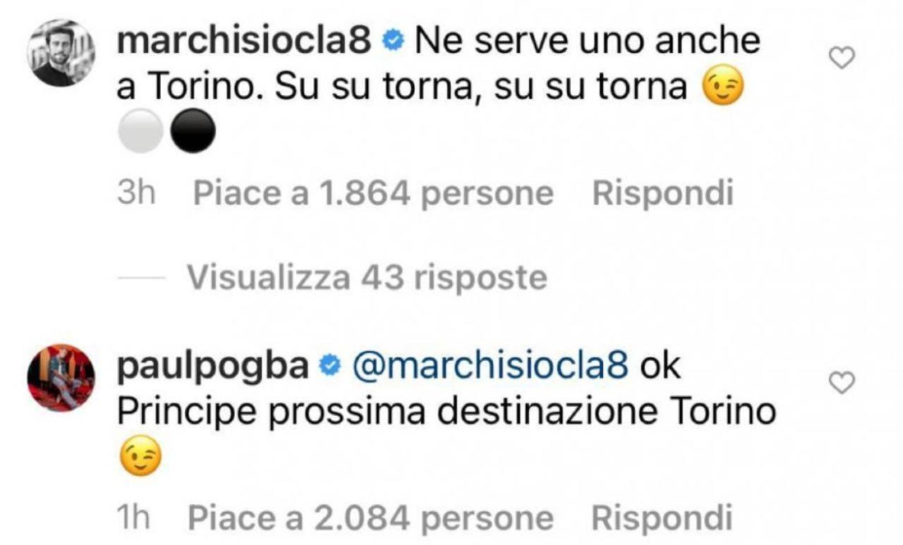 La conversazione tra Marchisio e Pogba