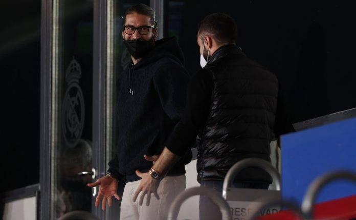 Sergio Ramos con la mascherina