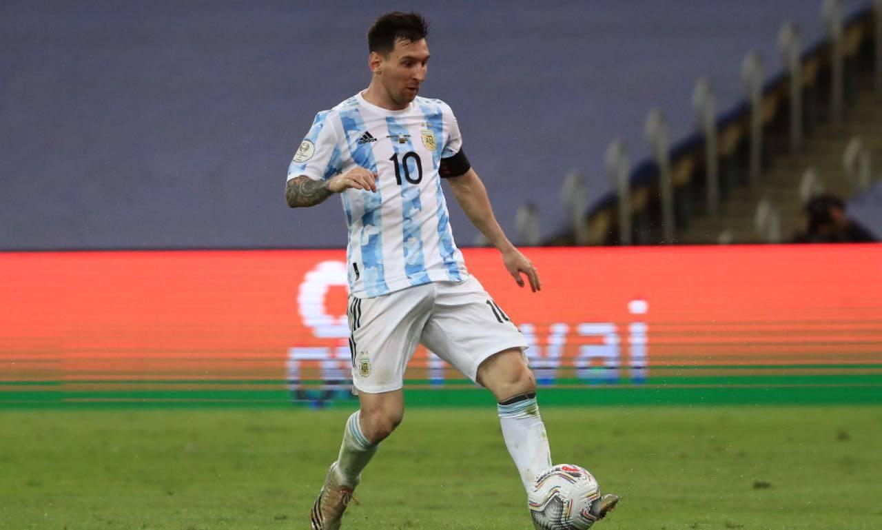 Messi nella finale di Copa America