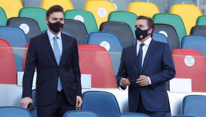 Dan e Ryan Friedkin allo stadio