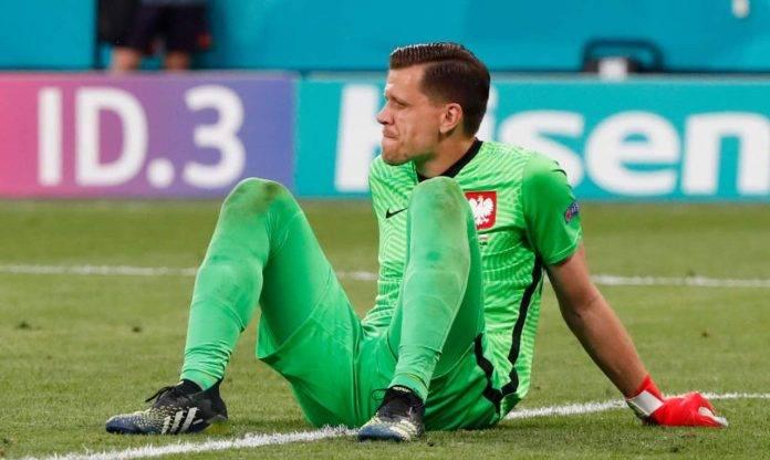 Szczesny dopo aver preso un gol in nazionale