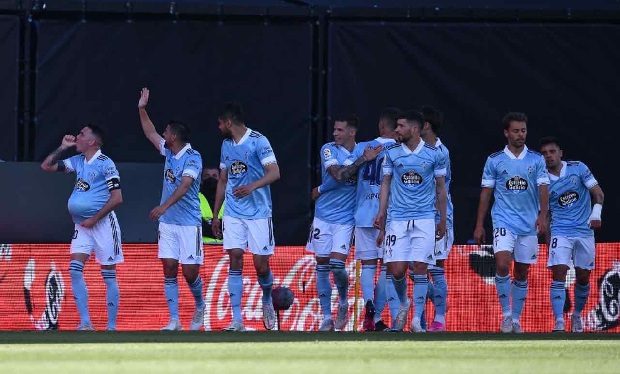 Il Celta Vigo festeggia un gol