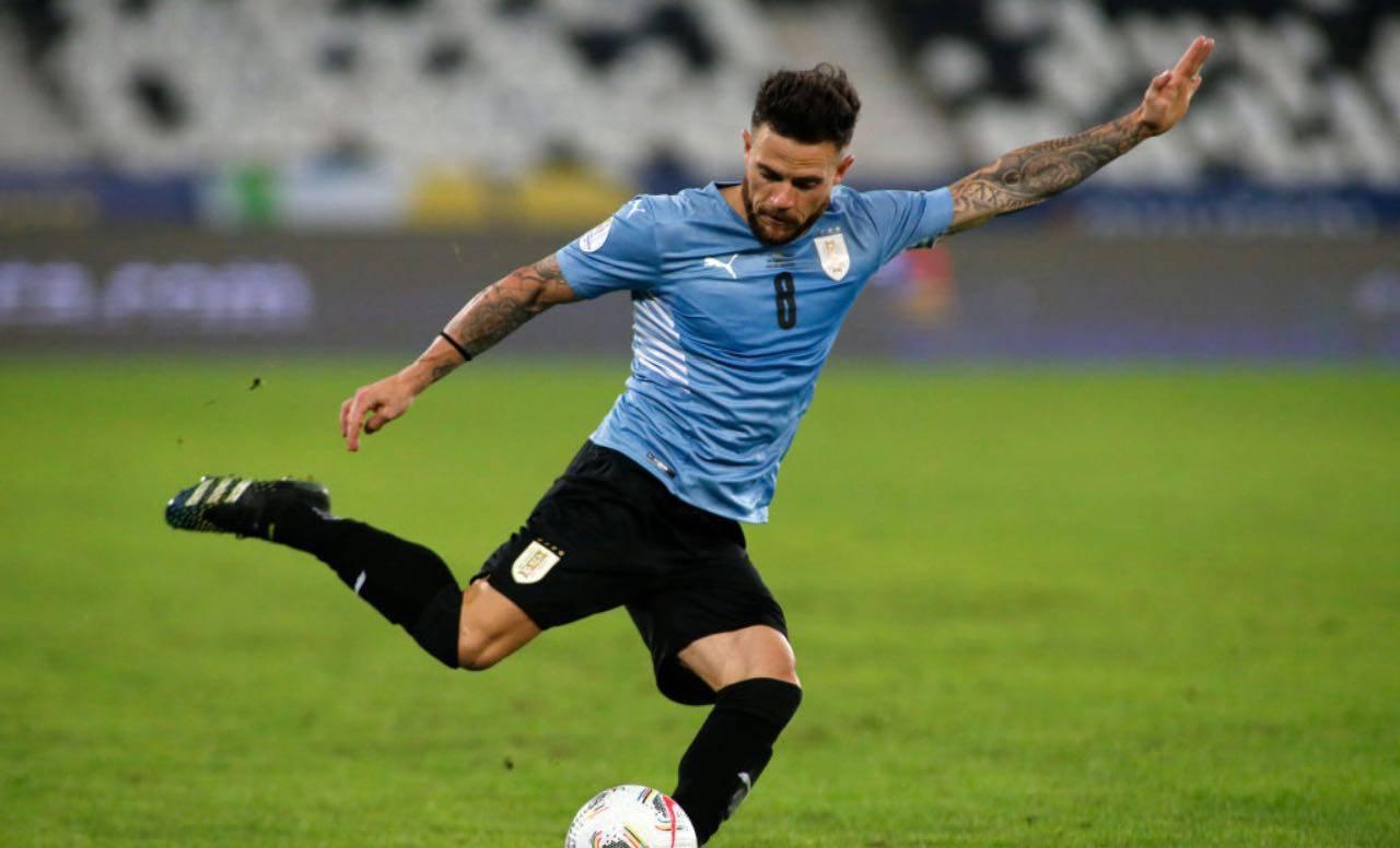 Nandez va al tiro con l'Uruguay
