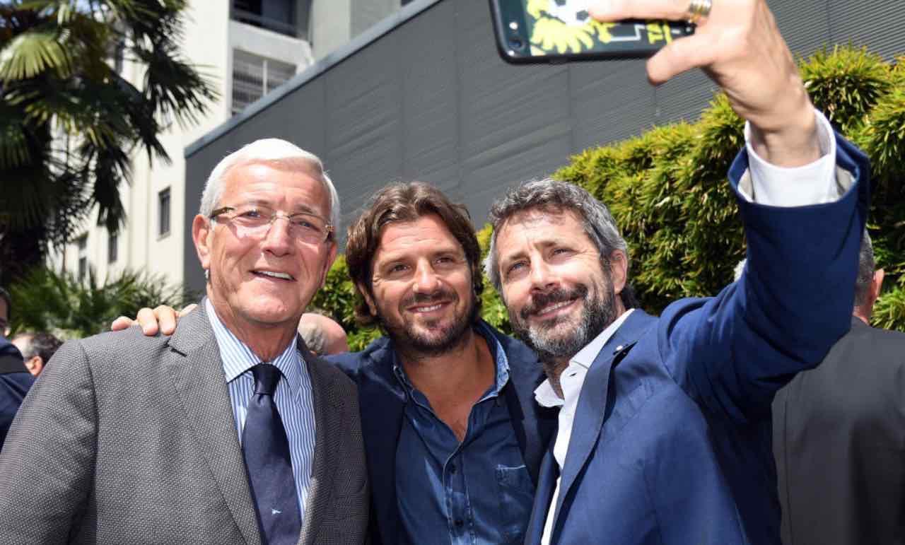 Marcello e Davide Lippi con Maurizio Ganz