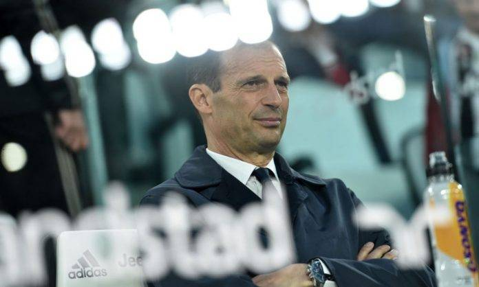 Allegri sulla panchina della Juventus
