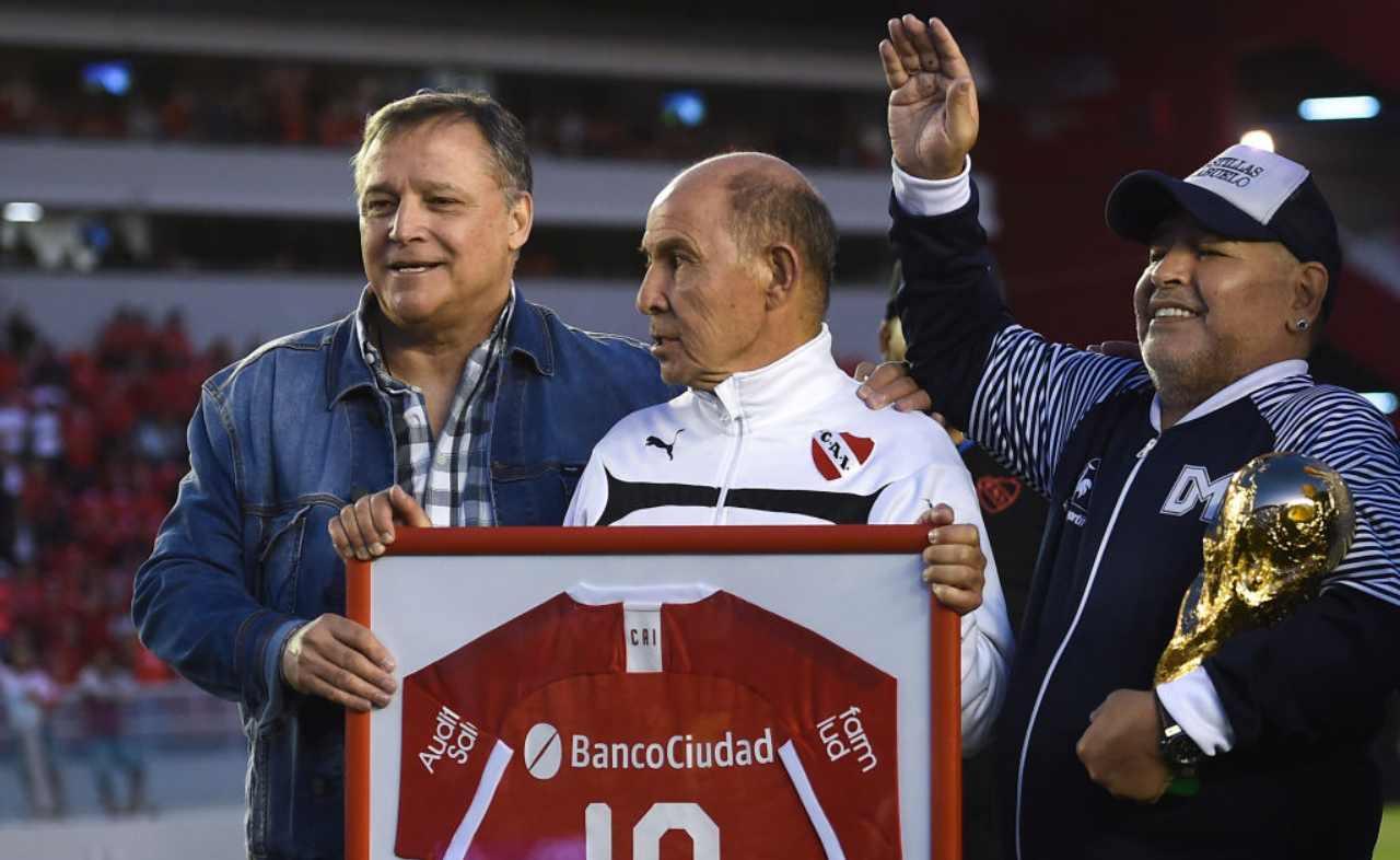 Daniel Bertoni con Maradona