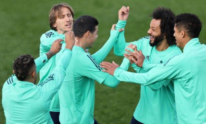 James Rodriguez, Modric e Marcelo insieme al Real