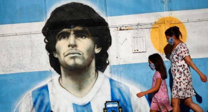 Maradona murale Argentina