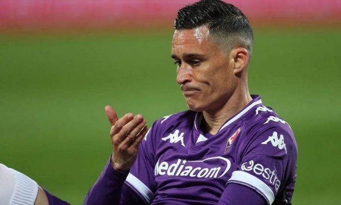 Callejon con la maglia della Fiorentina