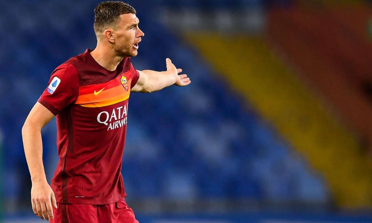 Dzeko in Sampdoria-Roma
