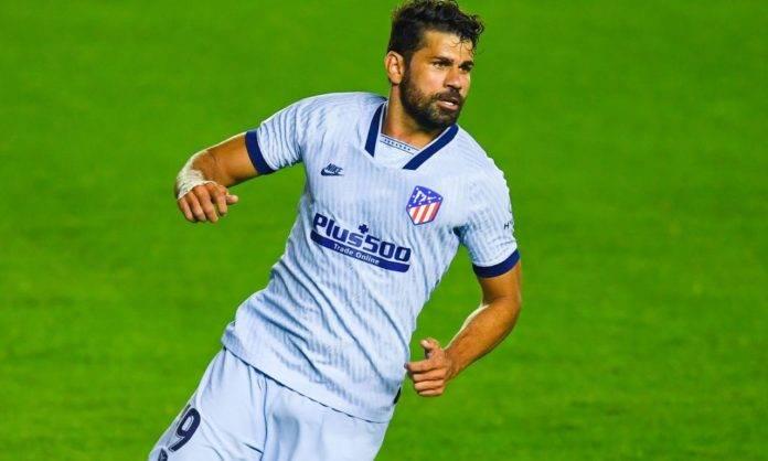 Diego Costa in campo con l'Atletico Madrid