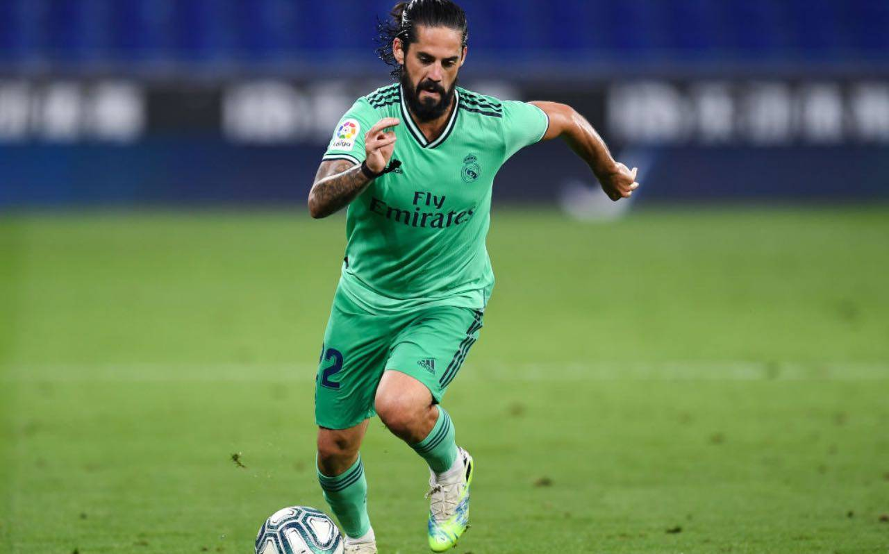 Isco in campo col Real Madrid