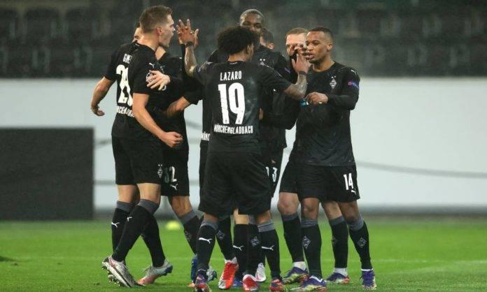 Esultanza di gruppo dell'Inter