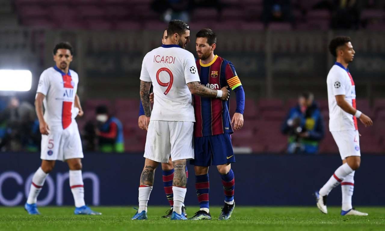 Icardi saluta Messi