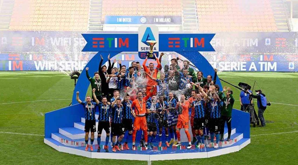 L'Inter festeggia lo scudetto