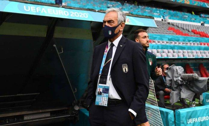 Gabriele Gravina in campo a EURO 2020