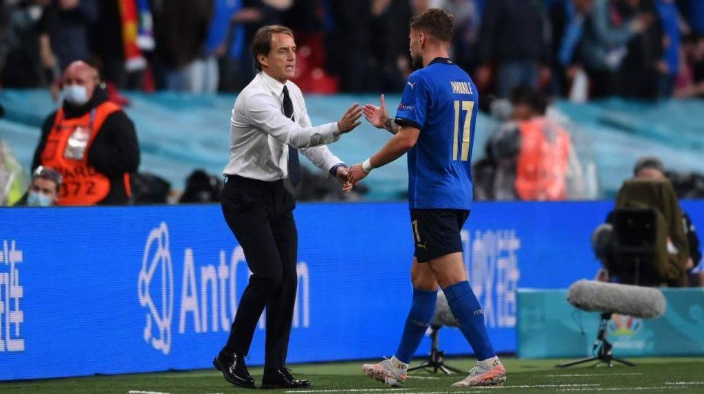 Immobile e Mancini a confronto