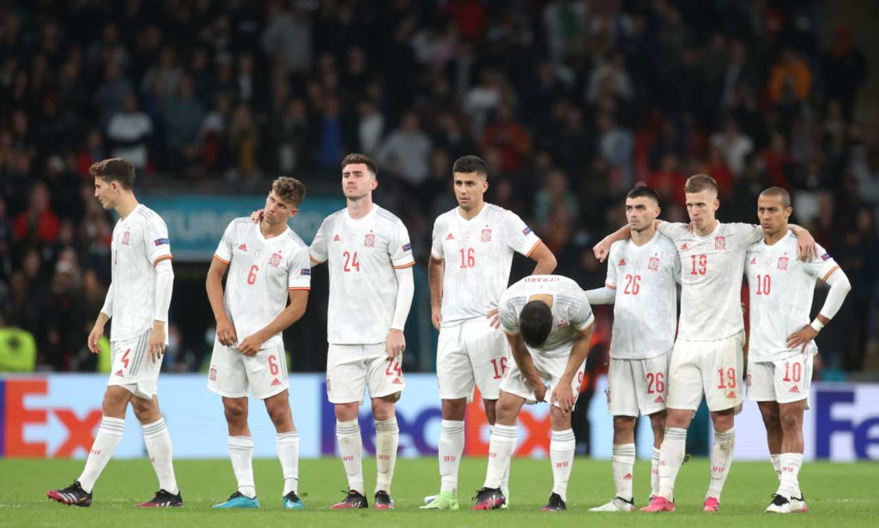 Delusione Spagna dopo i rigori