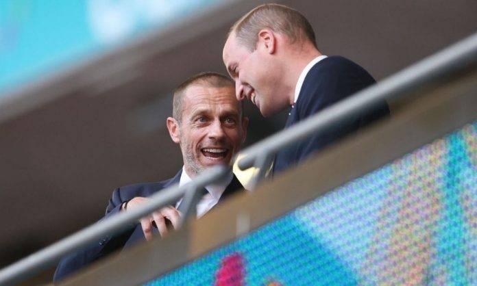 Ceferin parla con il principe William