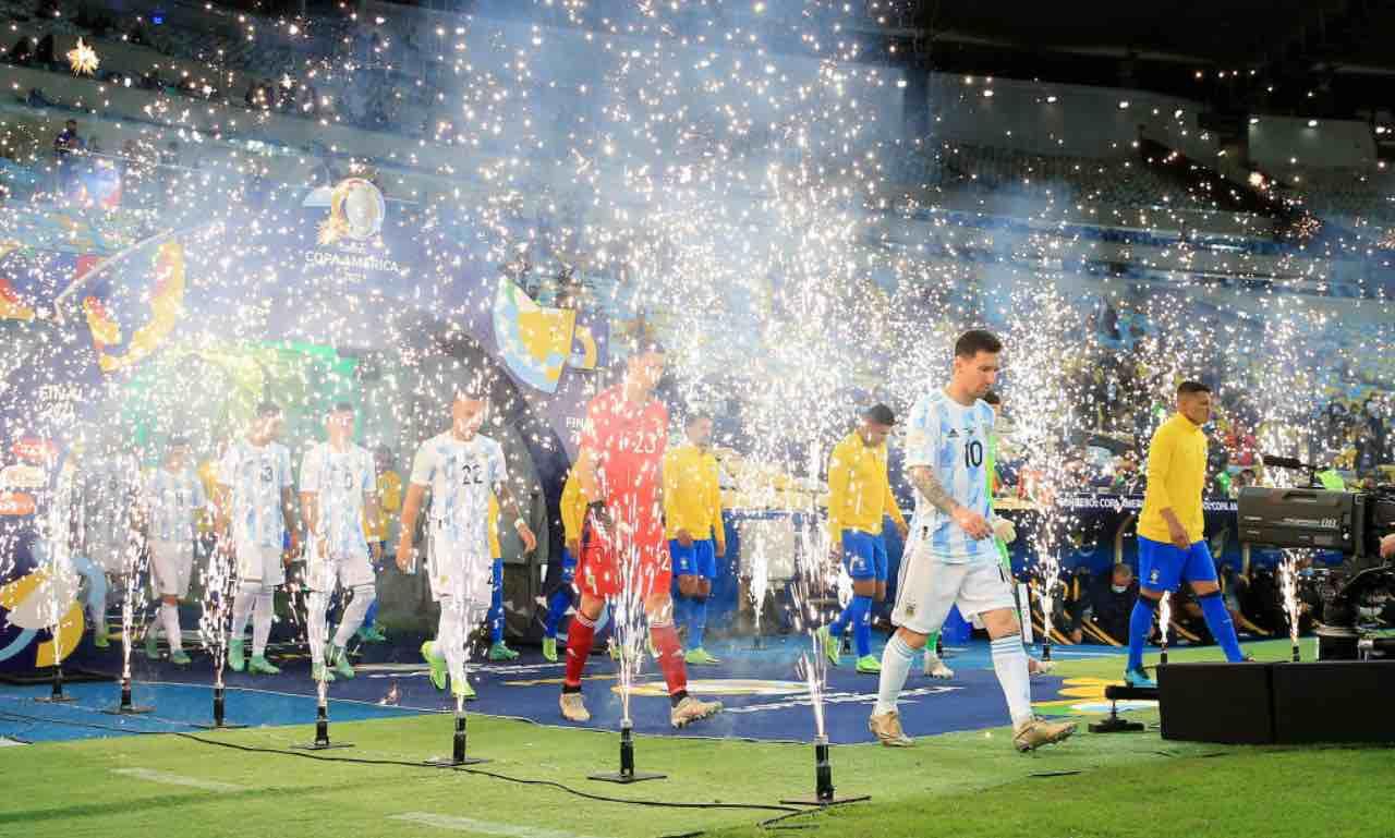 Argentina e Brasile in campo per la finale di Copa America