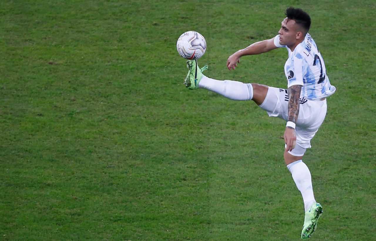 Lautaro durante la Copa America