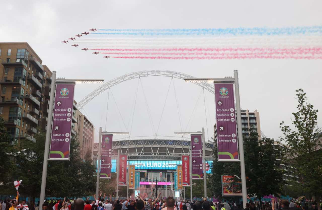 L'esterno di Wembley prima di Italia-Inghilterra