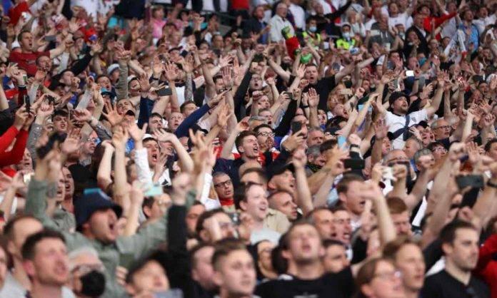 Tifosi sugli spalti di Wembley
