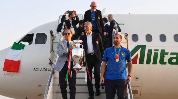 La Nazionale torna a Roma per i festeggiamenti