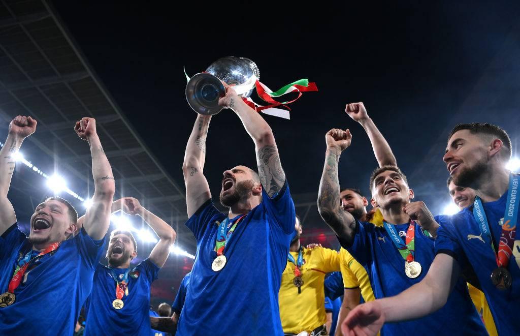 L'Italia festeggia la vittoria degli Europei