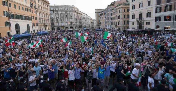 Italia festeggiamenti Euro2020