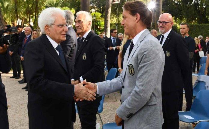 Mancini saluta Mattarella