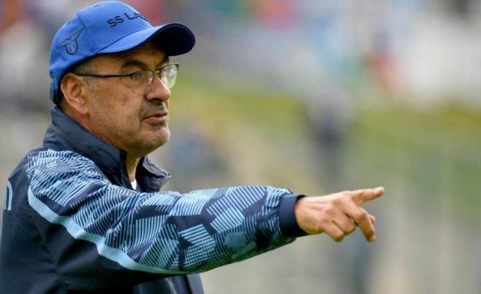 Sarri dirige l'allenamento della Lazio