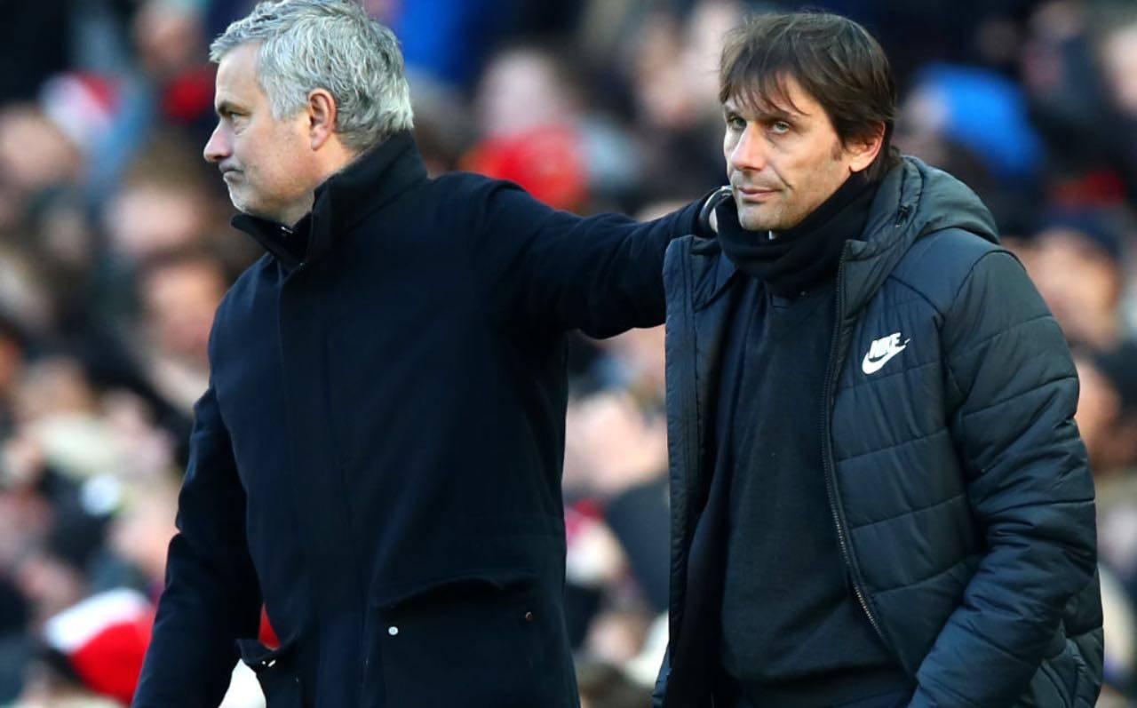 Mourinho e Conte in United-Chelsea