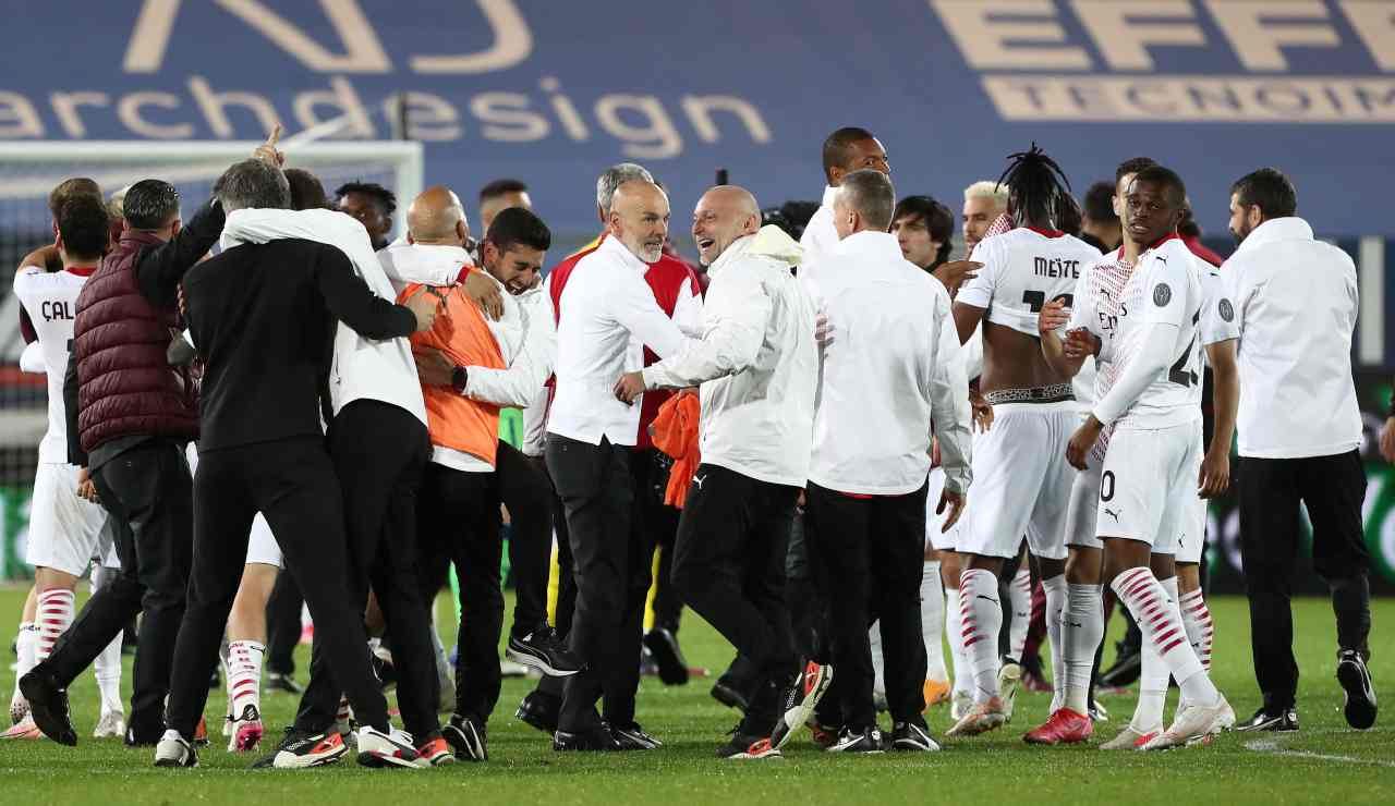 Festa Milan dopo la qualificazione in Champions