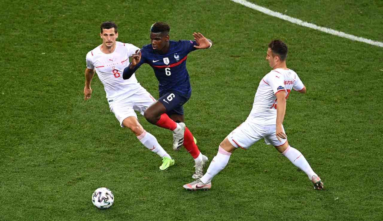Pogba in azione ad Euro 2020