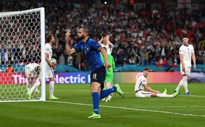 Italia-Inghilterra, Bonucci esulta