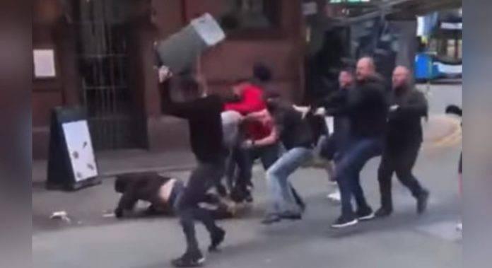 tifosi inglesi violenza Manchester