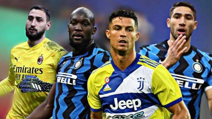 Donnarumma Lukaku Ronaldo Hakimi