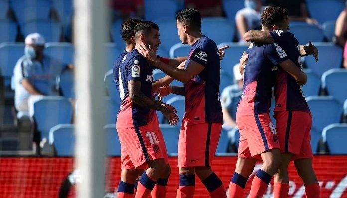 L'Atletico Madrid esulta per un gol