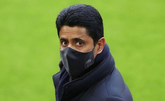 Al-Khelaifi con la mascherina