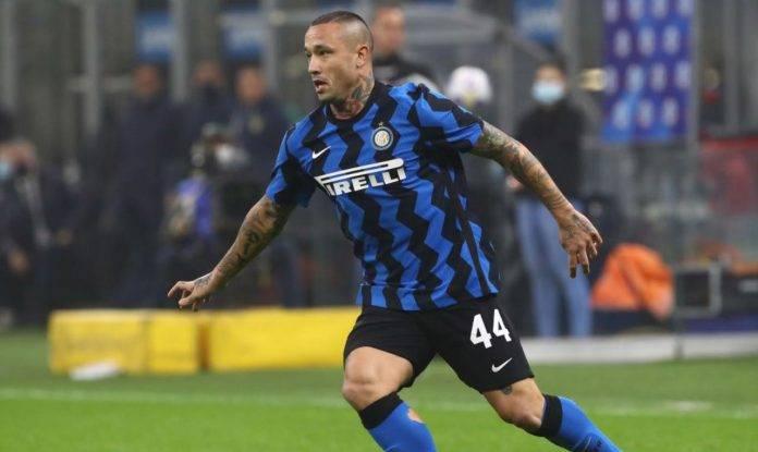 Nainggolan con la maglia dell'Inter