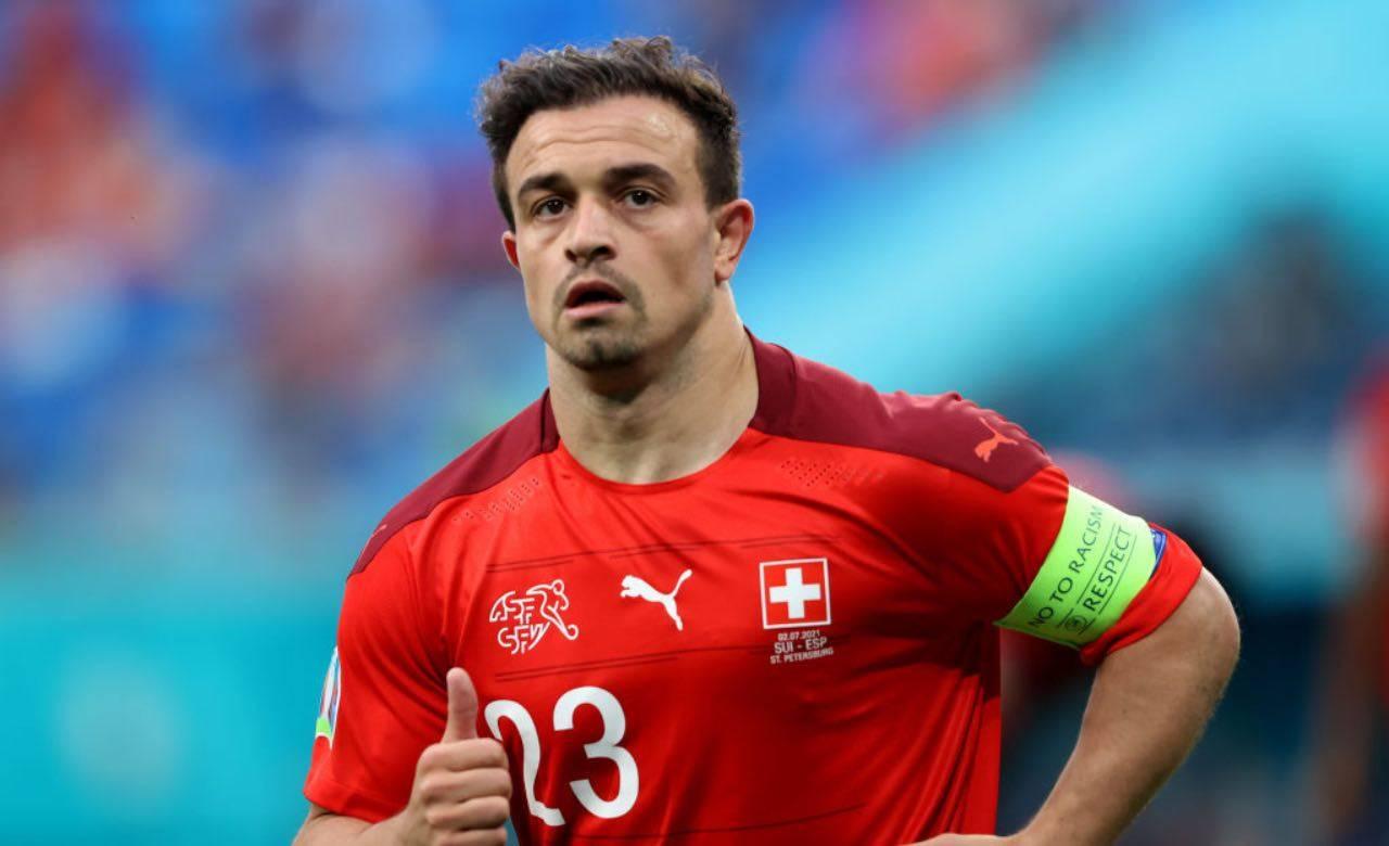 Shaqiri con la maglia della Svizzera