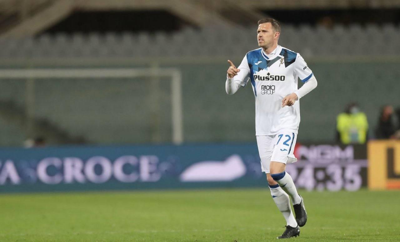 Josip Ilicic festeggia un gol