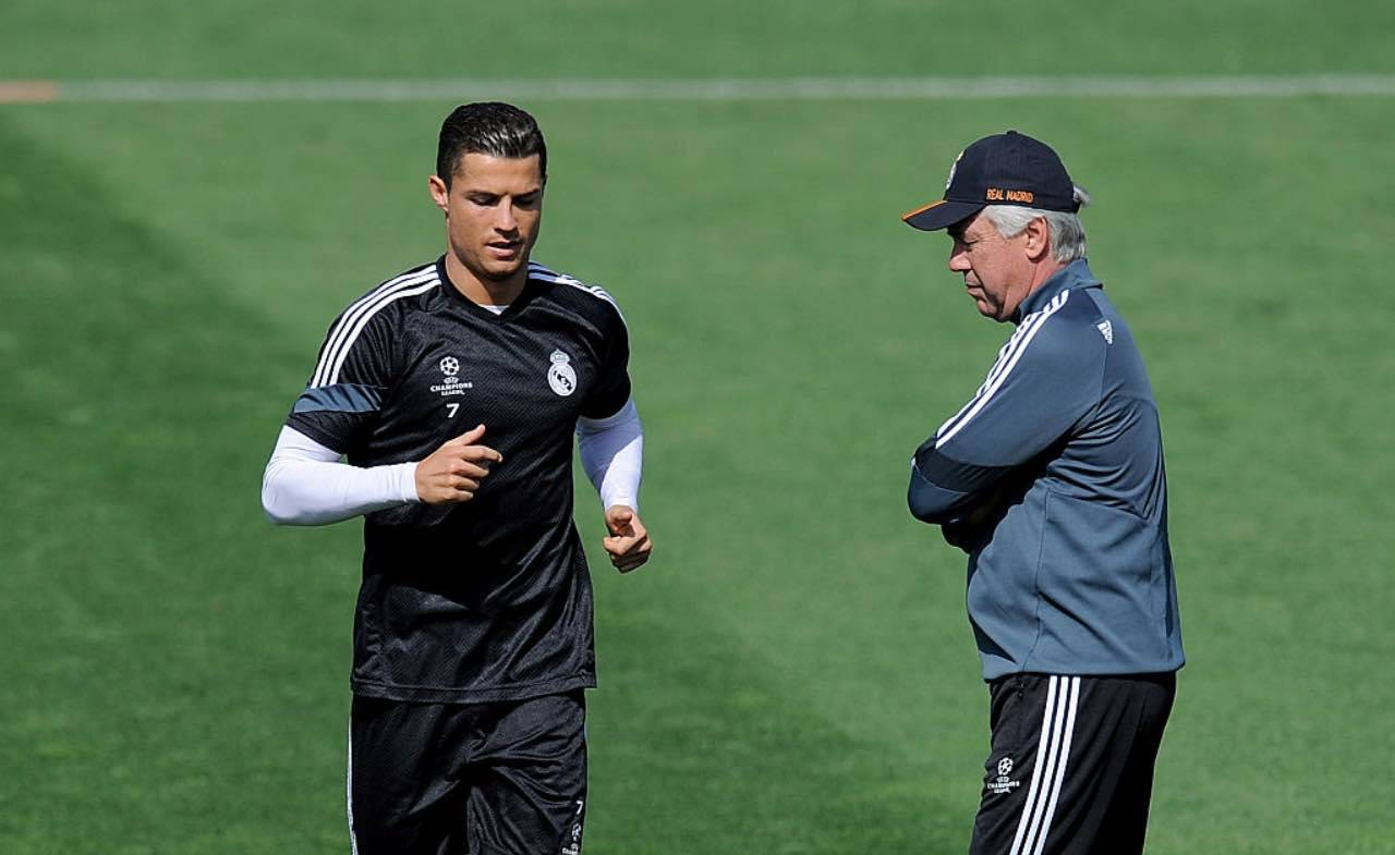 Ronaldo e Ancelotti ai tempi del Real Madrid